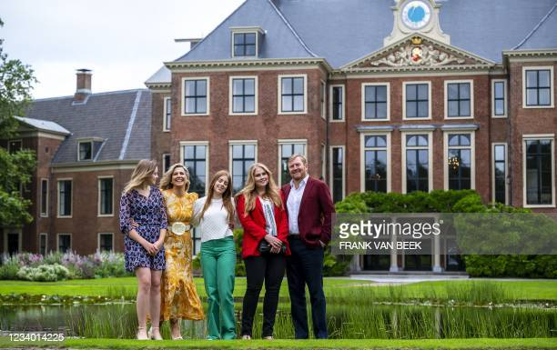 Princess Ariane of the Netherlands, Queen Maxima of the Netherlands, Princess Alexia of the Netherlands, King Willem-Alexander of the Netherlands and...