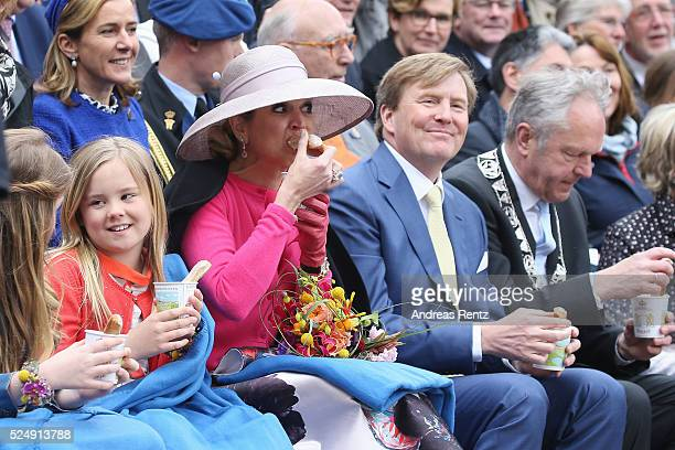 Princess Ariane of The Netherlands Queen Maxima of The Netherlands and King WillemAlexander of The Netherlands attend King's Day the celebration of...