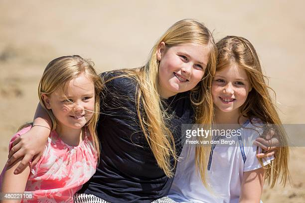 Princess Ariane, Princess Amalia and Princess Alexia of The Netherlands pose for pictures on July 10, 2015 in Wassenaar, Netherlands.