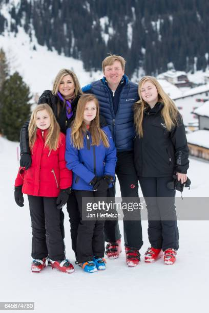 Princess Ariane, Queen Maxima of the Netherlands, Princess Alexia. King Willem-Alexander and Princess Catharina-Amalia pose for a picture during the...