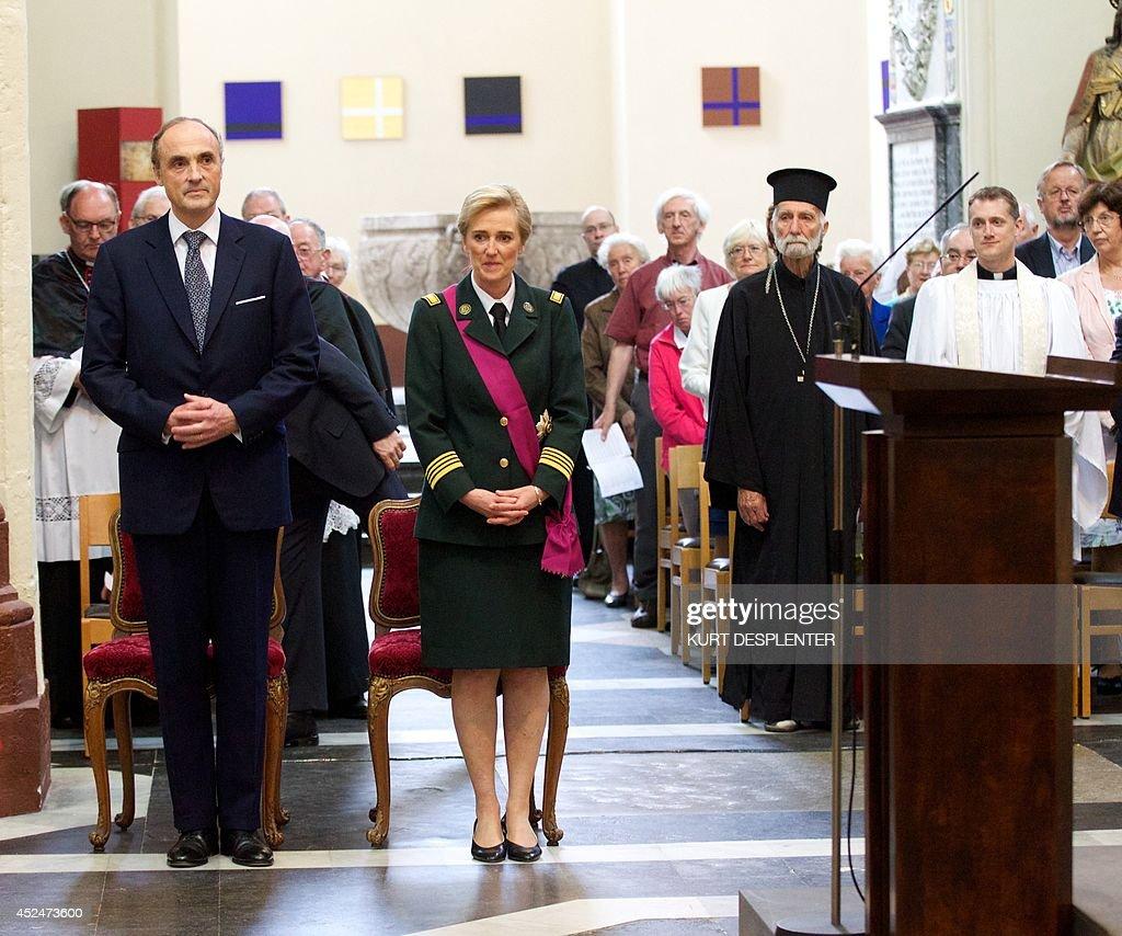 BELGIUM-ROYALS-NATIONAL DAY : News Photo