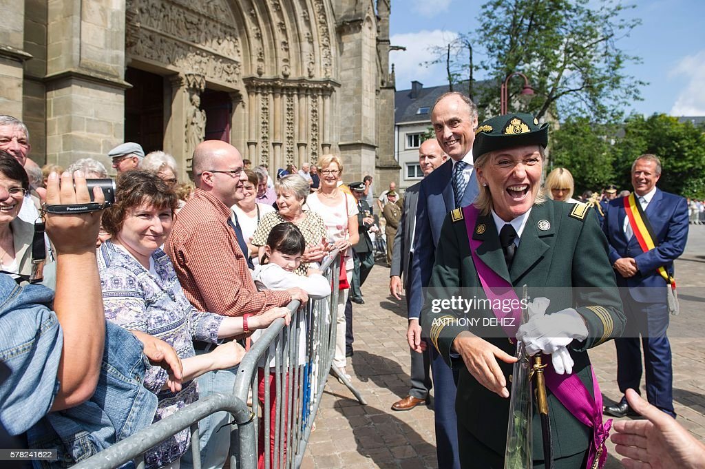 Princess astrid and prince lorenz of belgium greet people as they princess astrid and prince lorenz of belgium greet people as they attend the te deum mass on the occasion of todays belgian national day m4hsunfo
