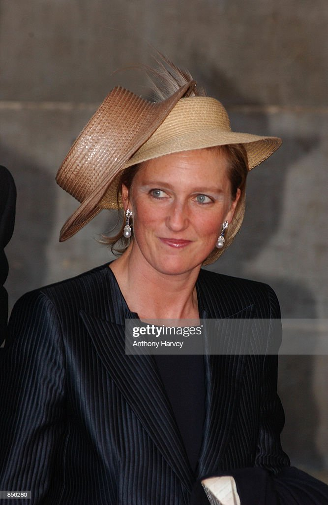 Princess Astrid arrives for the wedding of Dutch Crown Prince Willem Alexander and Crown Princess Maxima Zorreguieta February 2, 2002 in Amsterdam, Holland.