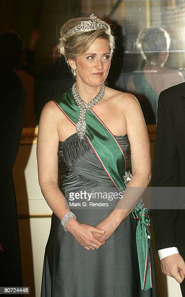 Princess Astrid From Belgium poses for a photo before a gala dinner at the Brussels Royal Palace on April 15 2008 in Brussels Belgium The Hungarian...