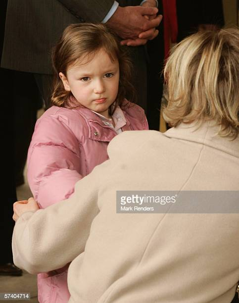 Princess Astrid of Belgium and her daughter Princess Laetitia, who turns three today, attend 14 Days of The Belgian Red Cross April 23, 2006 in De...