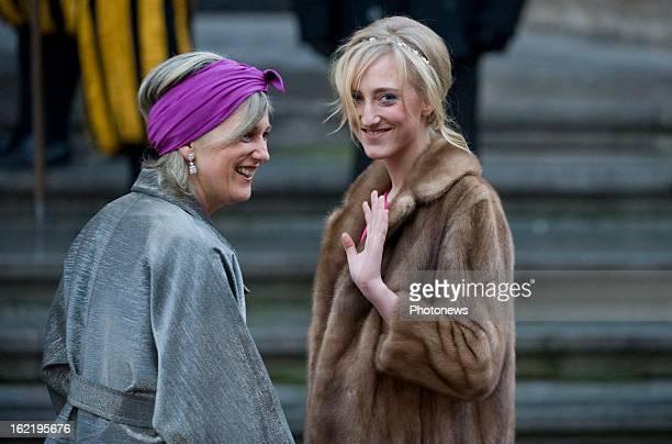 Princess Astrid of Belgium and Princess Maria Laura at the wedding of Archduchess MarieChristine of Austria grandchild of Grand Duke Jean of...