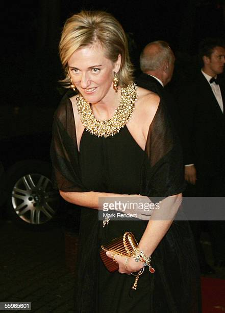 Princess Astrid of Belgium arrives at a reception at the Cercle Gaulois in Brussels on October 19 2005 in the Belgian capital Brussels The Portuguese...