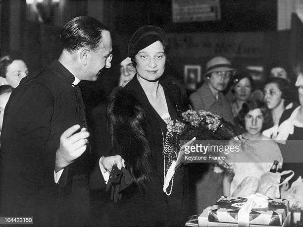 Princess Astrid Of Belgium At The Red Cross Stand At A Fancy Fair In 1933