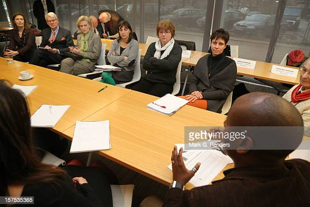 Princess Astrid of Belgium attends a workshop during Caritas 80th Anniversary at the Province House on December 4 2012 in LouvainlaNeuve Belgium