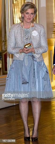 Princess Astrid of Belgium attends the autumn concert at the Royal Palace.