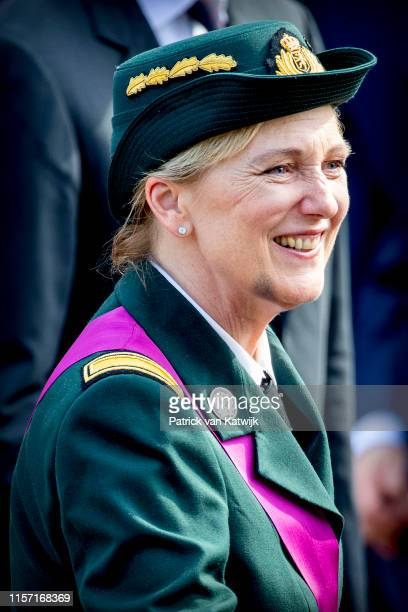 Princess Astrid of Belgium attends the military parade during Belgian National Day on July 21 2019 in Brussels Belgium
