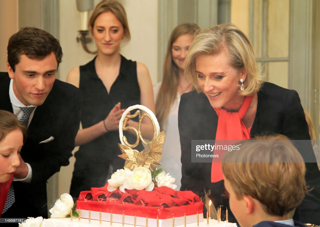 Princess Astrid (R) of Belgium celebrates her 50th birthday with the Royal Family of Belgium in her residence of Schonenberg on June 2, 2012 in Brussels, Belgium.