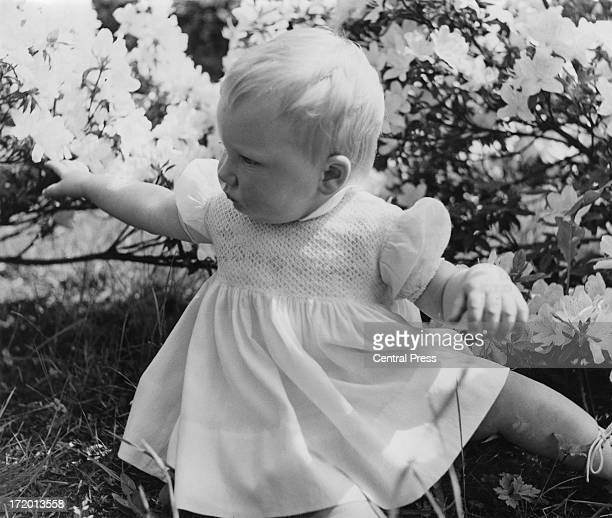 Princess Astrid of Belgium on her first birthday 5th June 1963
