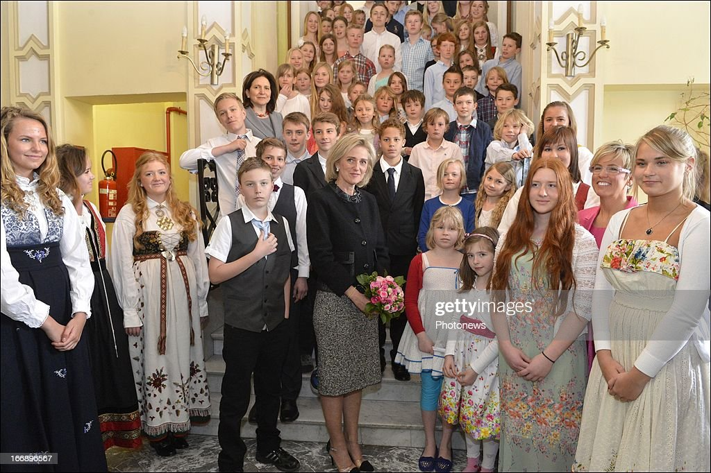 Princess Astrid Of Belgium Visits The Scandinavian School Of Belgium