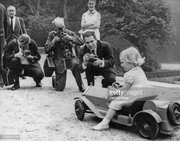 Princess Astrid of Belgium poses for photographers at her home near Brussels 4th June 1964