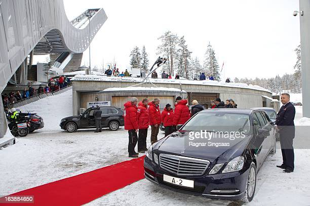 Princess Astrid of Norway Prince Sverre Magnus of Norway King Harald V of Norway Princess Ingrid Alexandra of Norway Queen Sonja of Norway and...