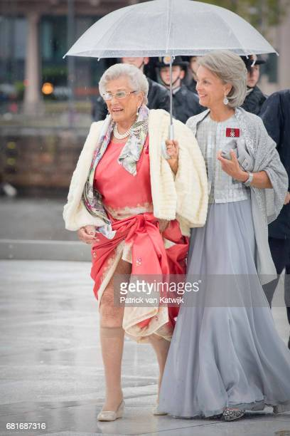 Princess Astrid of Norway rrive at the Opera House on the ocassion of the celebration of King Harald and Queen Sonja of Norway 80th birthdays on May...