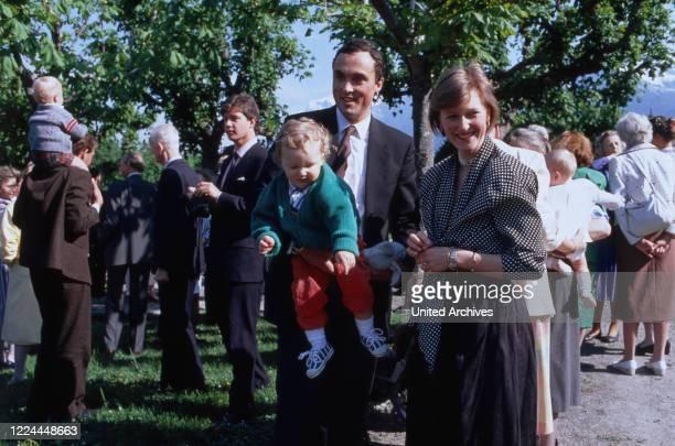 Princess Astrid von Habsburg Lothringen nee of Belgium with her husband Lorenz von Habsburg Lothringen and the children Joachim Maria Laura and Luisa...