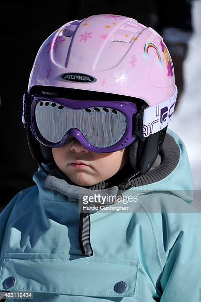 Princess Athena of Denmark attends the Danish Royal family annual skiing photocall whilst on holiday on February 10 2015 in ColdeBretaye near...
