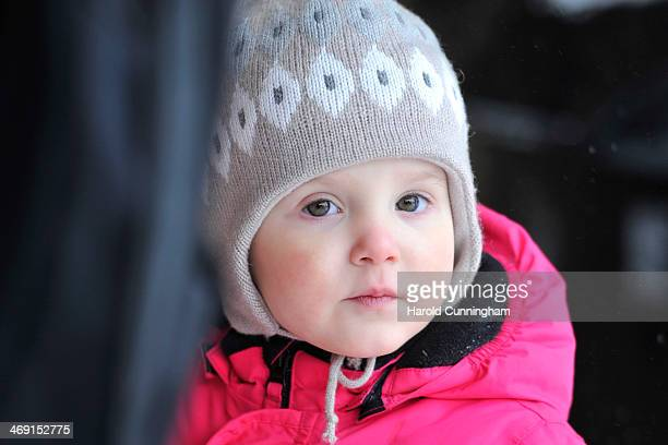Princess Athena of Denmark meets the press whilst on skiing holiday in Villars on February 13 2014 in VillarssurOllon Switzerland
