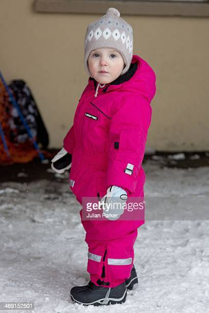 Princess Athena of Denmark poses during her annual winter family holiday photocall on February 13 2014 in VillarssurOllon Switzerland
