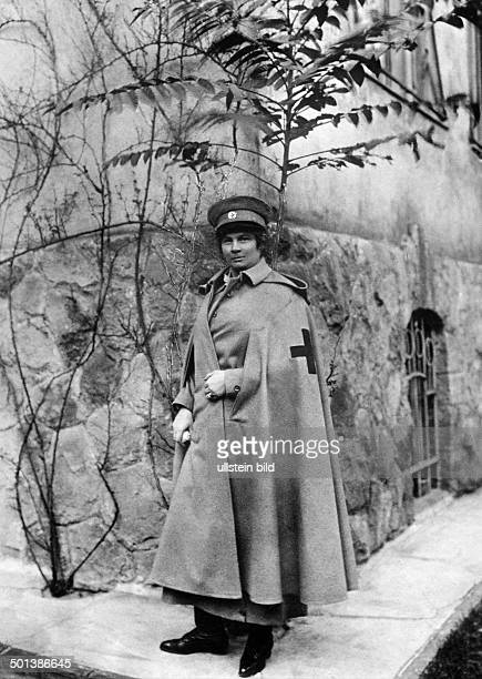 Princess Auguste of Bavaria Member of the Bavarian Royal House of Wittelsbach granddaughter of Austrian Emperor Franz Joseph I in the uniform of the...