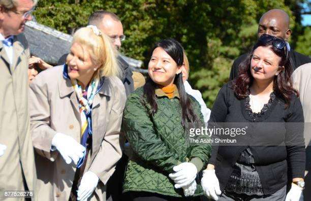 Princess Ayako of Takamado and diplomats are seen as she invites foreign diplomats and their partners to Shinhama Kamoba on November 16 2017 in...