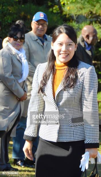 Princess Ayako of Takamado is seen as she invites foreign diplomats and their partners to Shinhama Kamoba on November 16 2017 in Ichikawa Chiba Japan