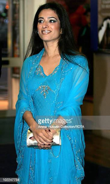 Princess Badiya bint Hussein of Jordan arrives at the Royal world premiere of the film Stairway to Heaven in Leicester Square London on April 30 2007...