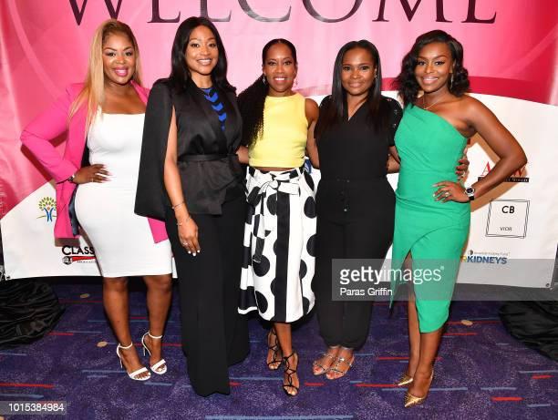 Princess Banton-Lofters, Monyetta Shaw, Regina King, Heavenly Kimes and Quad Webb Lunceford attend 2018 Black Women's Expo at Georgia International...