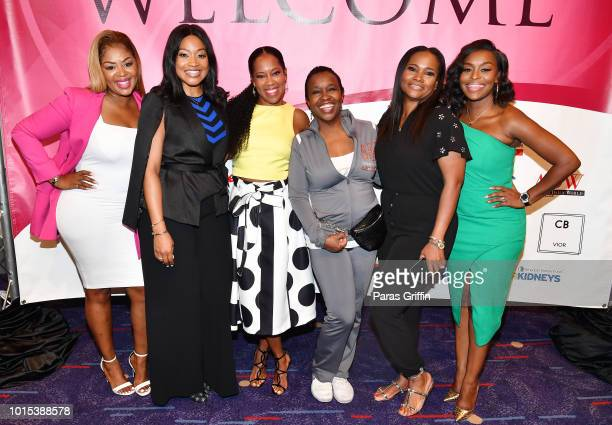 Princess BantonLofters Monyetta Shaw Regina King Merry Green Heavenly Kimes and Quad Webb Lunceford attend 2018 Black Women's Expo at Georgia...