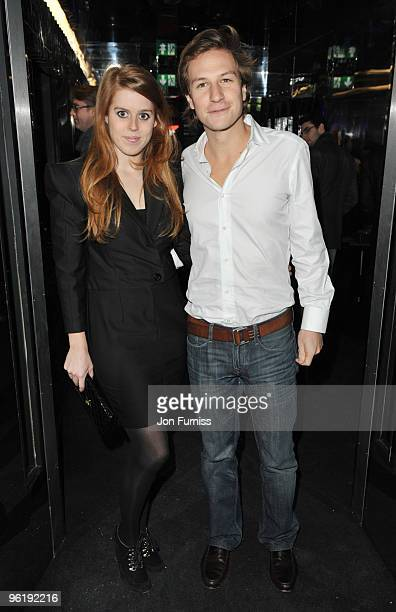Princess Beatrice and boyfriend Dave Clark attend the Help for Haiti fundraiser at Circus on January 26 2010 in London England