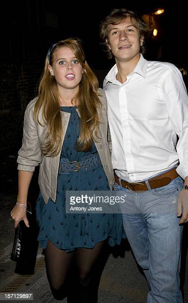 Princess Beatrice And Dave Clark Arrive At The Renaissance Rooms In South London For The DayGlo Midnight Roller Disco An Event Organised In Aid Of A...