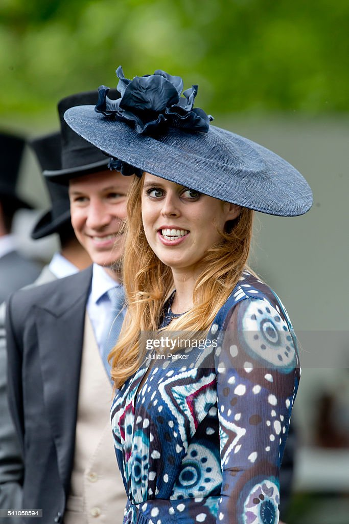 Princess Beatrice, and Dave Clark, on day 5 of Royal Ascot at Ascot Racecourse on June 18, 2016 in Ascot, England.