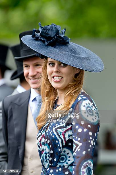 Princess Beatrice and Dave Clark on day 5 of Royal Ascot at Ascot Racecourse on June 18 2016 in Ascot England
