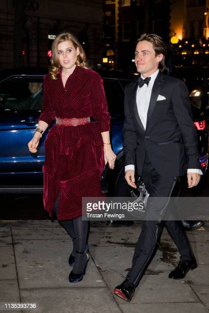 Princess Beatrice and Edoardo Mapelli Mozzi attend the Portrait Gala at National Portrait Gallery on March 12 2019 in London England