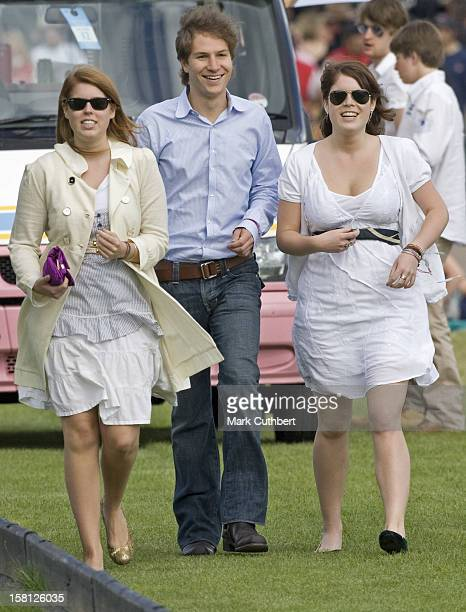 Princess Beatrice And Her Boyfriend Dave Clark Along With Princess Eugenie At Guards Polo Club In Windsor Great Park For The Queens Cup