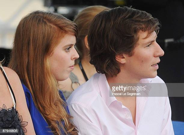 Princess Beatrice and her boyfriend Dave Clark attend the Amber Fashion Show and Auction held at the Meridien Beach Plaza on May 22 2009 in Monte...