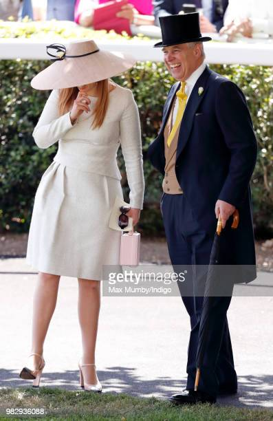 Princess Beatrice and Prince Andrew Duke of York attend day 4 of Royal Ascot at Ascot Racecourse on June 22 2018 in Ascot England