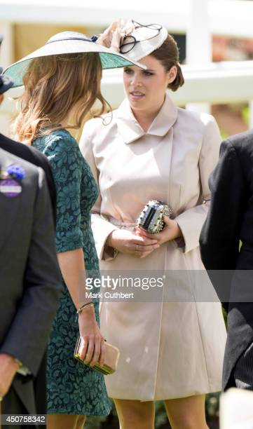 Princess Beatrice and Princess Eugenie attend Day 1 of Royal Ascot at Ascot Racecourse on June 17 2014 in Ascot England