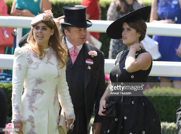 Princess Beatrice and Princess Eugenie attend the first day off Royal Ascot 2017 at Ascot Racecourse on June 20 2017 in Ascot England