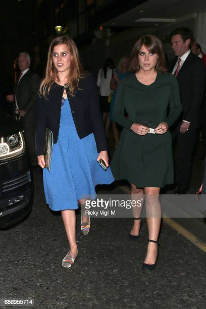 Princess Beatrice and Princess Eugenie attend The Ultimate Luxury Travel Related Awards 2017 at The Savoy on May 22 2017 in London England