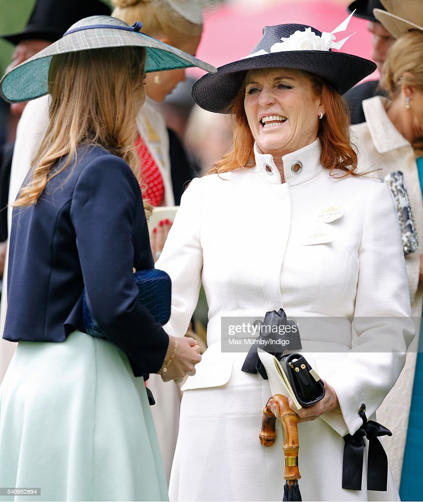 Princess Beatrice and Sarah Ferguson, Duchess of York attend day 4 of Royal Ascot at Ascot Racecourse on June 17, 2016 in Ascot, England.