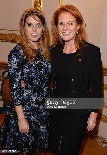 Princess Beatrice and Sarah Ferguson Duchess of York attend the Bell Pottinger Charity Dinner hosted for Northwood African Education Foundation at...