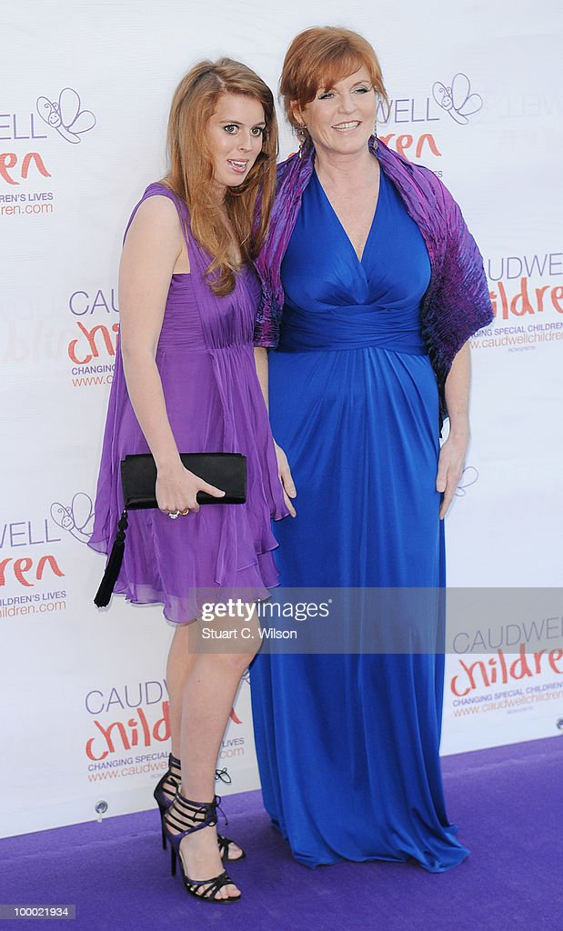 Princess Beatrice and Sarah Furguson, Duchess of York attend The Caudwell Children Butterfly Ball at Battersea Evolution on May 20, 2010 in London, England.