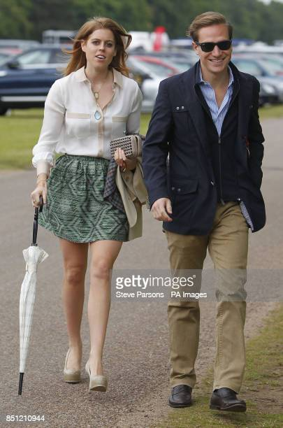 Princess Beatrice arrives with her boyfriend Dave Clark at the Cartier Queen's Cup polo tournament final at Guards Polo in Windsor Great Park...