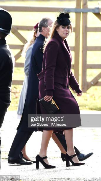 Princess Beatrice arriving to attend the morning church service at St Mary Magdalene Church in Sandringham Norfolk