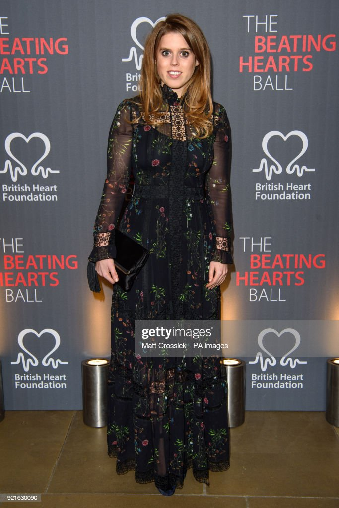 Princess Beatrice attending the British Heart FoundationÕs Beating Hearts Ball, at The Guildhall in London, which raises funds for the BHF's life-saving research.