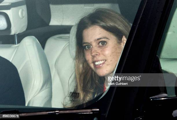 Princess Beatrice attends a Christmas lunch for the extended Royal Family at Buckingham Palace on December 20 2017 in London England