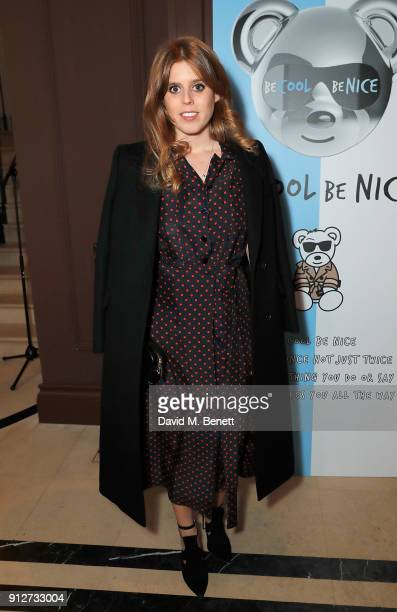 Princess Beatrice attends an event to celebrate 'Be Cool Be Nice' on January 31 2018 in London England